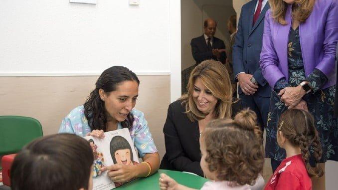 La presidenta andaluza inaugura las nuevas  instalaciones del Centro Cristo del Buen Fin de Sevilla