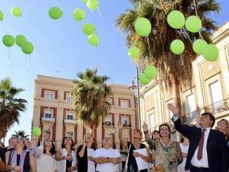 Acto en el Ayuntamiento de Huelva en apoyo a los enfermos de Salud Mental