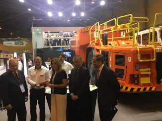 La presidenta de la Junta, Susana Díaz, en la inauguración del Salón Internacional de la Minería Metálica