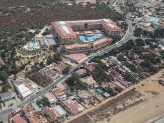 Vista aérea de la playa de Mazagón