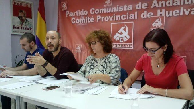 Mesa de la Conferencia Provincial del PCA