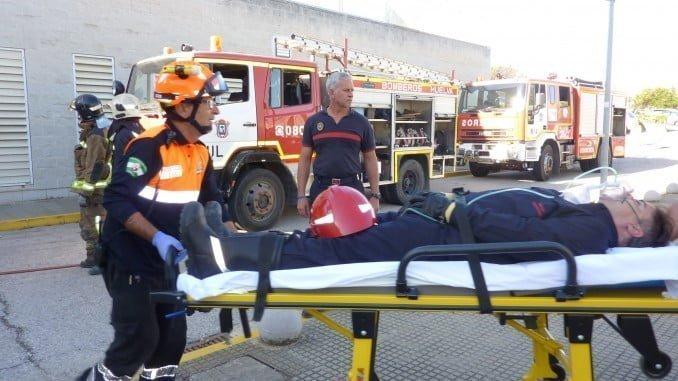 Simulacro de incendio en Hospital JRJ