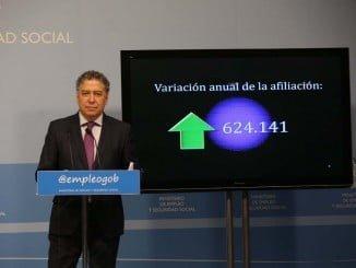El secretario de Estado de la Seguridad Social informa de los datos de afiliación
