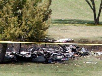 Imagen de un accidente de helicóptero