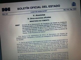 El siguiente paso es la firma de un convenio entre Fomento y el Ayuntamiento lepero para redactar el proyecto de construcción