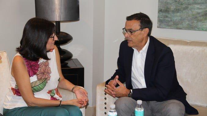 Caraballo ha mantenido un encuentro institucional con Peña como nueva rectora de la Onubense