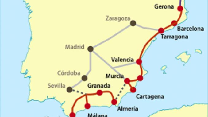 El corredor Mediterráneo unirá Francia con Algeciras