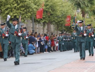 Imagen del desfile miliar en Huelva el pasado año