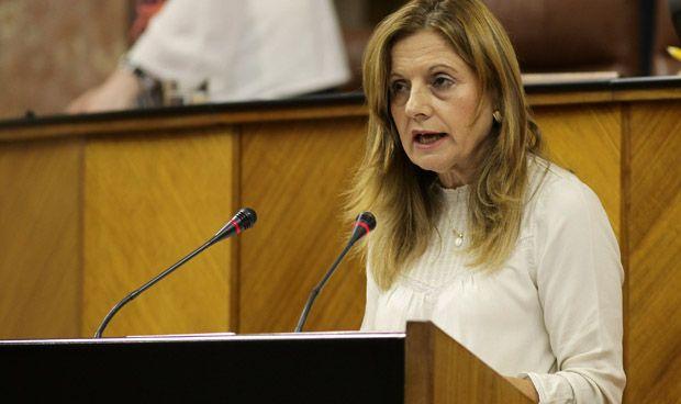 La consejera de Salud en Andalucía, Marina Álvarez, durante su comparecencia en el Parlamento andaluz