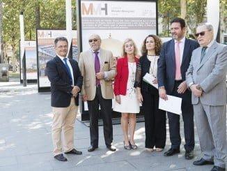 Carmen Castreño asiste a la presentación del 'Metallic Mining Hall', el Salón Internacional de la Minería Metálica, que se celebrará en FIBES, junto otras personalidades