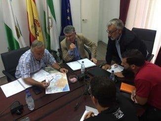 Los alcaldes de Bonares y Rociana abordan con José Antonio Cortés la propuesta de un corredor paisajístico