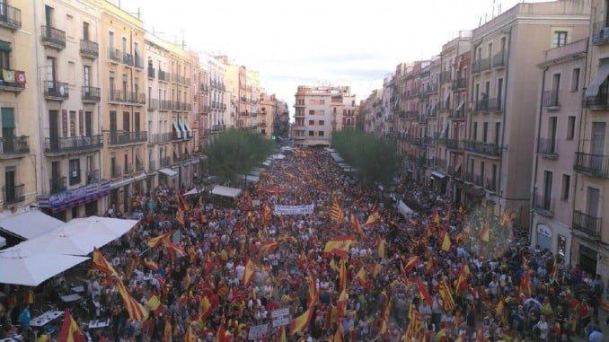 Aspecto de la manifestación a la que habría asistido un millón de personas, según los convocantes