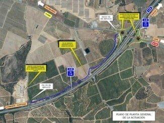 Mapa de situación de las rotondas de acceso al Chare de Lepe a las que Fomento ha dado vía libre