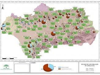 Mapa del estado de los embalses de la provincia a 29 de septiembre