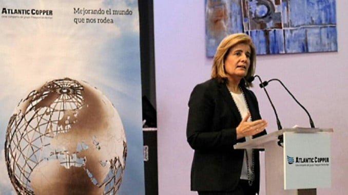 """La ministra Báñez ha clausurado en Huelva el II Encuentro Atlantic Copper """"El empleo del futuro"""""""