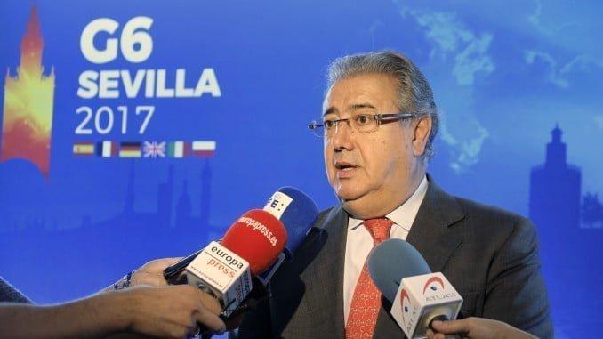 Zoido ha visitado la sede de la Reunión del G6 de Ministros del Interior que se celebra en Sevilla