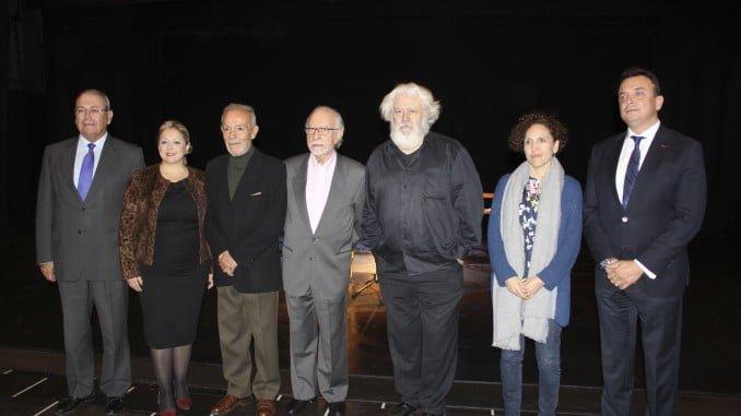 Acto de la Lengua viaja a América, que patrocinan las Fundaciones Caja Rural del Sur, Cajasol y Atlantic Copper y la Autoridad Portuaria de Huelva.