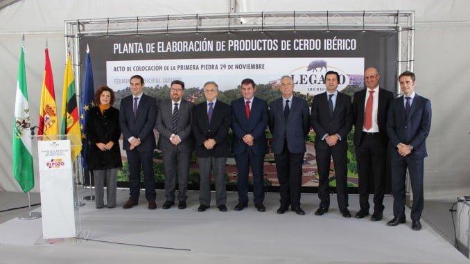 Sánchez Haro, durante la inauguración de la nueva planta de El Pozo en la localidad onubense de Jabugo