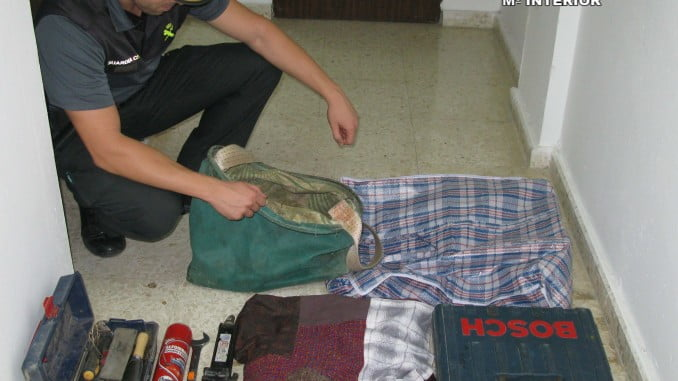 Objetos recuperados por la Guardia Civil