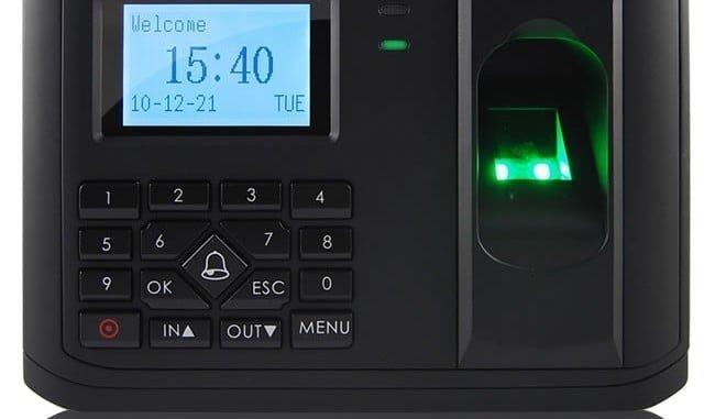Control de acceso al puesto de trabajo  por huella digital