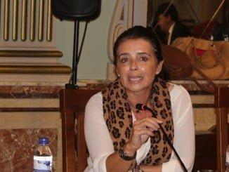 Carmen Sacristán, concejal del Grupo Popular en el Ayuntamiento de Huelva