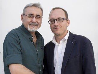 El director del Festival de Cine Iberoamericano con el presidente de Asecan