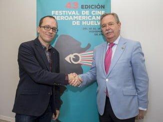 Manuel H. Martín y Andrés Fuentes López tras la firma del convenio