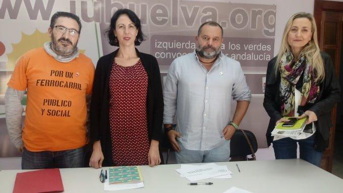 Eva García y Sánchez Rufo, reunidos para abordar la preocupante situación del ferrocarril en Huelva