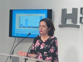 Diputada de Bienestar Social, Aurora Vélez, en la Diputación Provincial de Huelva