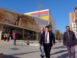 El alcalde de Huelva ha visitado el nuevo bulevar de la Avenida de Italia