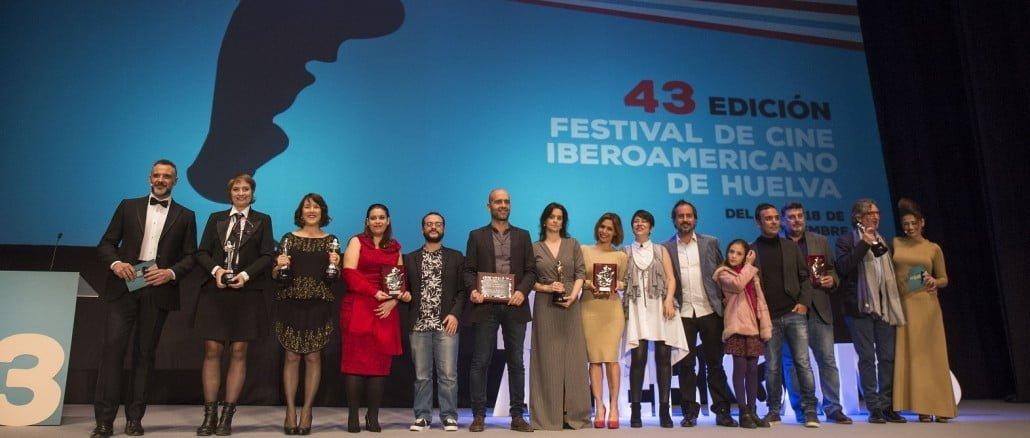 Los premiados en la 43 edición del Festival de Cine Ibroamericano de Huelva