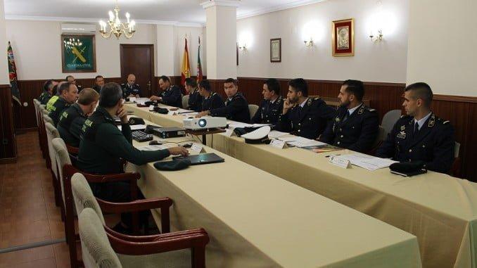 Reunión de Seguridad transfronteriza entre la GNR de Portugal y la Guardia Civil