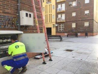 El Ayuntamiento ha renovado el alumbrado público en la Plaza Teresa Panza