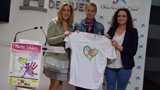 Presentación de la I Marcha Solidaria de Hinojos en la Diputación de Huelva