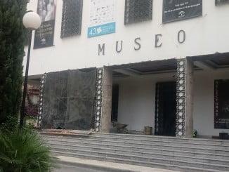 El Museo Provincial se encuentra cerrado debido al desprendimiento de parte del techo de su entrada