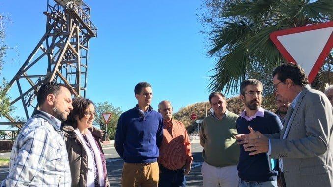 Manuel Andrés González ha visitado Nerva para reclamar la autovía de la Cuenca Minera