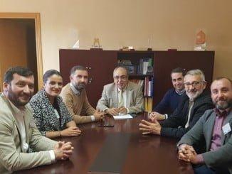 Los regidores de Almonte, Bonares, Lucena, Moguer y Rociana se reúnen con el presidente de la CHG