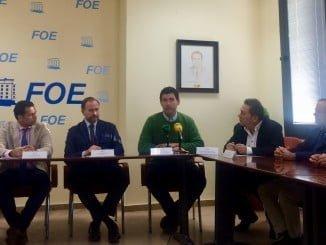 Rueda de prensa para presentar el Centro Comercial Abierto de Valverde del Camino