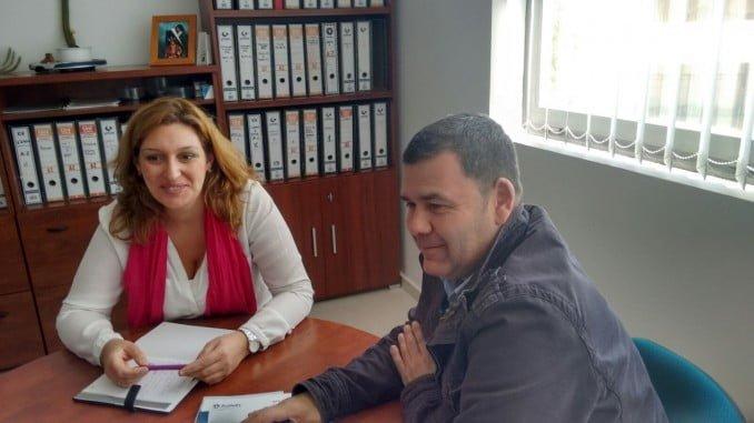 Reunión del PSOE con el sector del calzado valverdeño