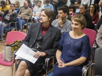 La actriz y empresaria Assumpta Serna y el actor y director británico Scott Cleverdon