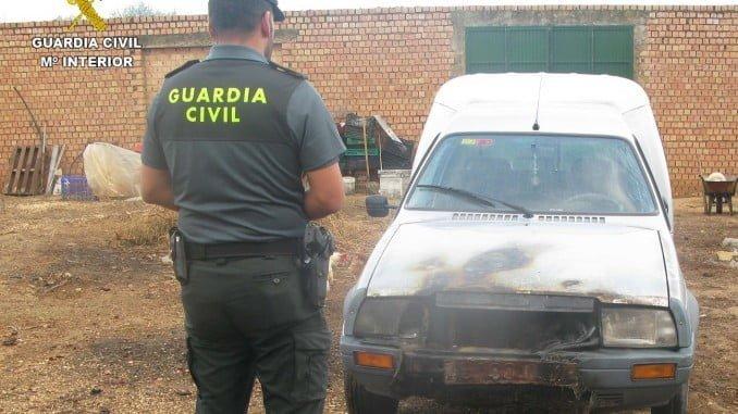 La Guardia Civil ha conseguido detener al autor de varios incendios de vehículos en Almonte