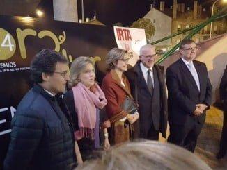 Tejerina en el acto de entrega de los Premios Porc d´Or