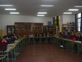 El delegado de Educación presenta al IES La Rábida el proyecto de rehabilitación del centro
