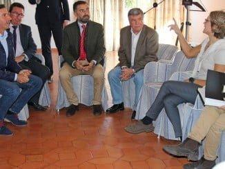 Reunión de García Tejerina con los miembros de la Plataforma en Defensa de los Regadíos