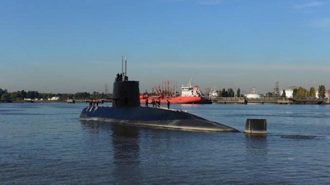 Imagen del submarino ARA San Juan en el que embarcó el exjugador del CD Rugby Tartessos