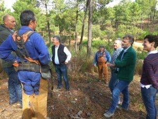 José Fiscal visita los trabajos que se desarrollan en La Pata del Caballo