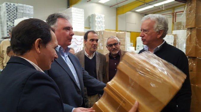 Francisco José Romero, Manuel Ceada y Miguel Ángel Mejías visitan la empresa Polisur