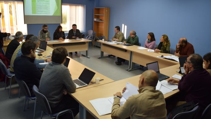 Reunión del proyecto 'TecnOlivo', que persigue el desarrollo de una solución tecnológica comercializable.