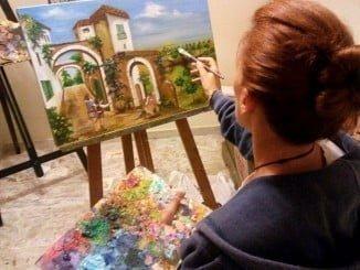 Inmaculada Mora en su estudio.