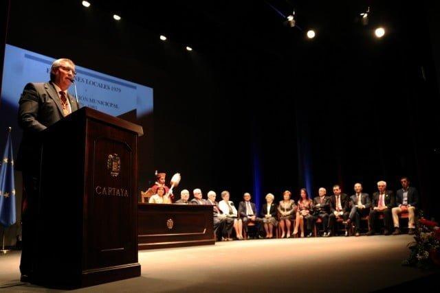 El alcalde de Cartaya en su intervención.